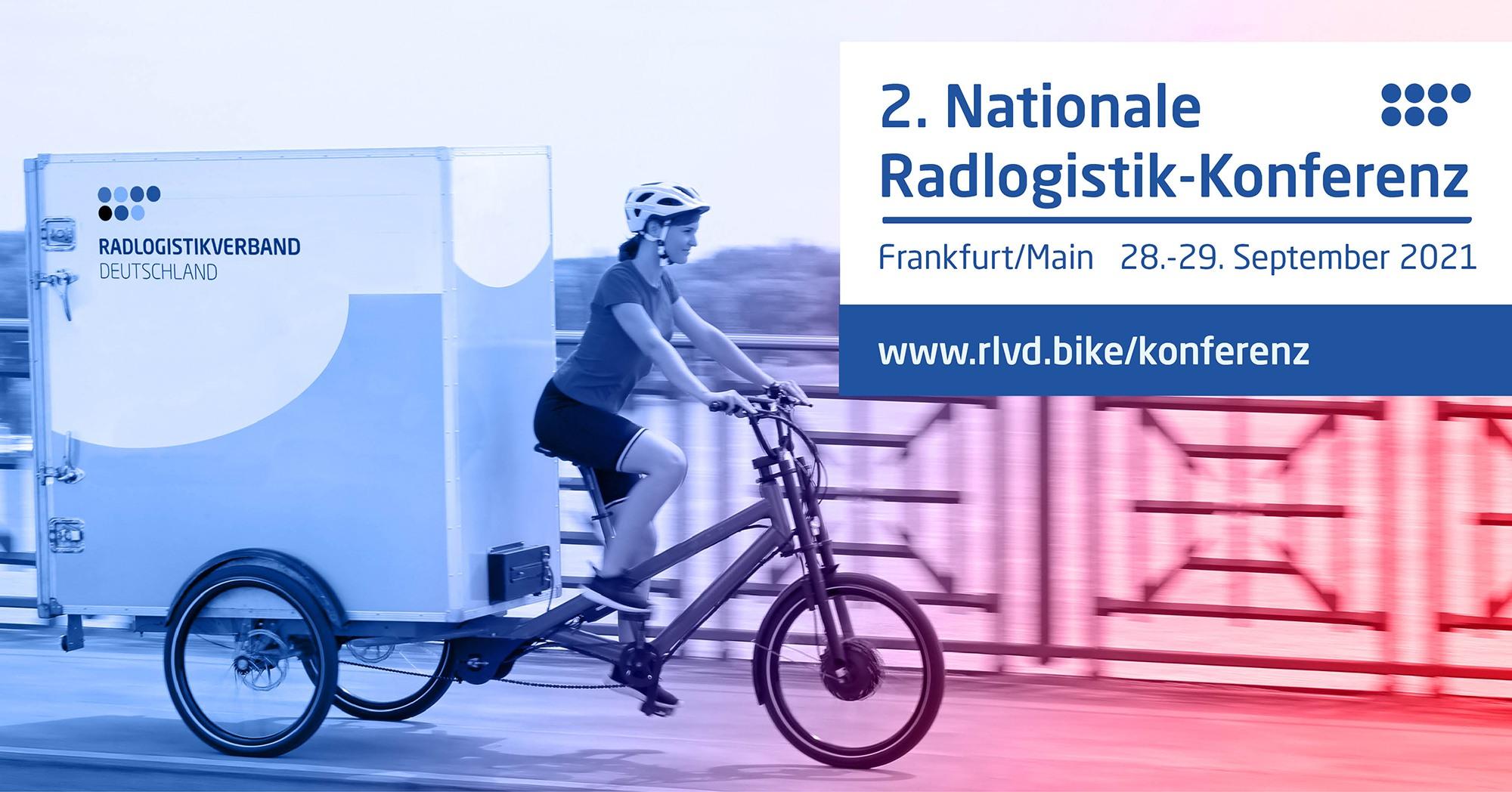 Banner Radlogistik-Konferenz 2021 in Frankfurt