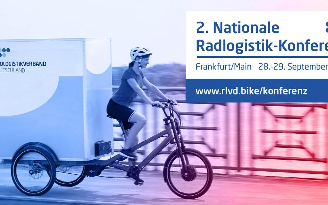 2. Nationale Radlogistik-Konferenz im September 2021 in Frankfurt am Main